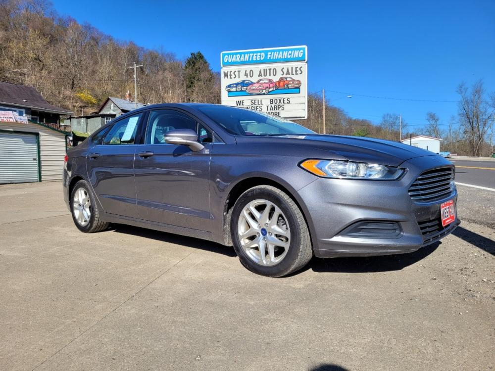 2013 GRAY Ford Fusion SE (3FA6P0HRXDR) with an 1.6L L4 DOHC 16V engine, Automatic transmission, located at 250 Glenn Highway, Cambridge, OH, 43725, (740) 439-5504, 39.994991, -81.716339 - Photo #0