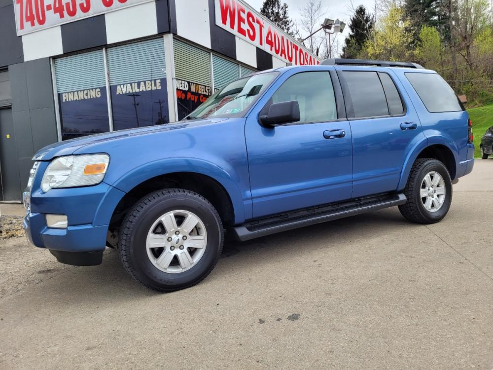 2009 BLUE Ford Explorer XLT 4.0L 4WD (1FMEU73E29U) with an 4.0L V6 SOHC 16V engine, Automatic transmission, located at 250 Glenn Highway, Cambridge, OH, 43725, (740) 439-5504, 39.994991, -81.716339 - Photo #0