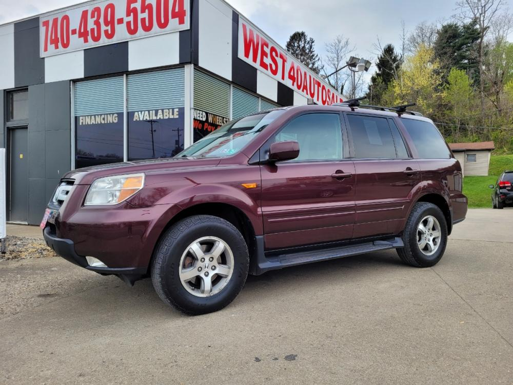 2007 MAROON Honda Pilot EX 4WD (5FNYF18407B) with an 3.5L V6 SOHC 24V engine, Automatic transmission, located at 250 Glenn Highway, Cambridge, OH, 43725, (740) 439-5504, 39.994991, -81.716339 - Photo #0